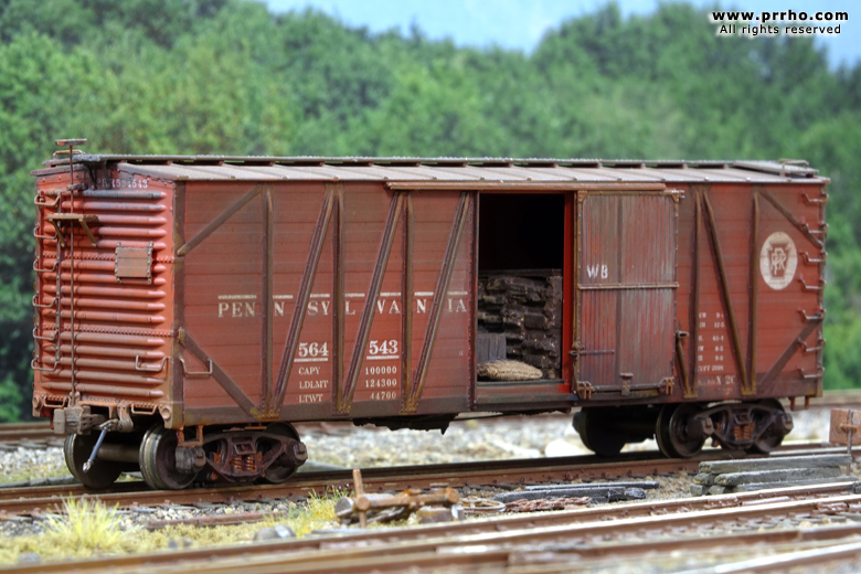 Wooden Rail Cars ~ Boxcars prrho model trains