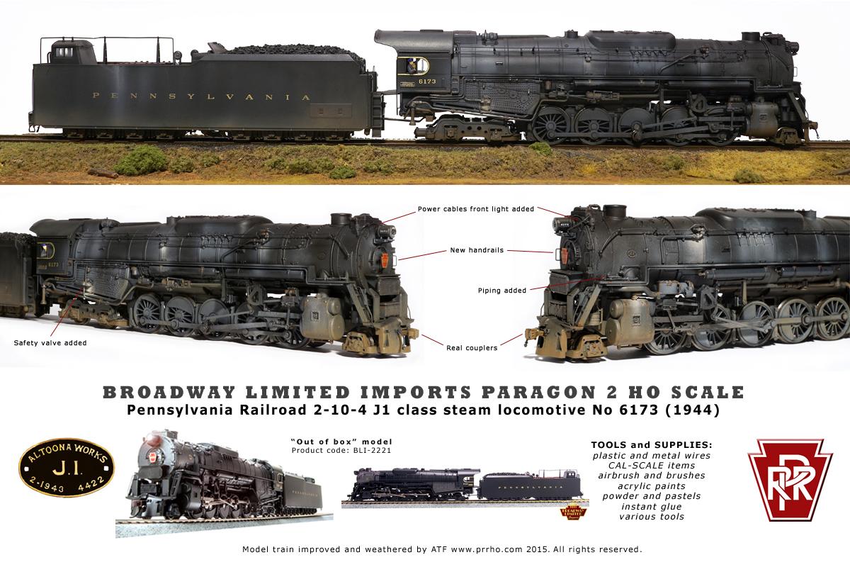 PRR J1 class - PRRHO com Model Trains
